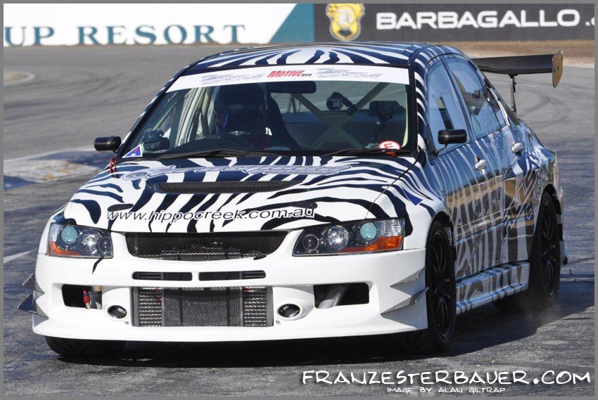 Hippo Creek/AllStar Garage Evo IX during the 1st test session at Barbagallo Raceway